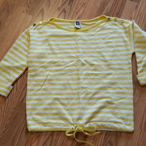 NWOT Anne Klein Yellow Striped Shirt sz Med